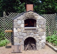 Wood burning pizza oven.