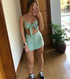 Skirt Outfits, Sexy Outfits, Trendy Outfits, Cool Outfits, Summer Outfits, Fashion Outfits, Womens Fashion, Clueless Outfits, Two Piece Outfit