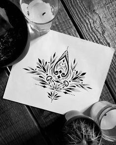 Lotus Mandala Tattoo, Geometric Mandala Tattoo, Mandala Tattoo Design, Tattoo Designs, Tattoo Sketches, Tattoo Drawings, Dots To Lines, Arabesque, Taurus Tattoos