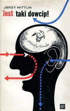 """""""Jest taki dowcip!"""" Jerzy Wittlin Cover by Marian Sztuka Book series Biblioteka Stańczyka Published by Wydawnictwo Iskry 1973, 1979"""