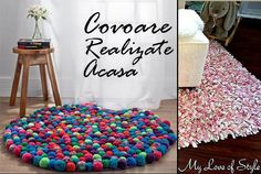 Pom Pom Crafts are not only fun to make but are as colorful as the mind of your child. Check out colorful and wow Pom Pom crafts here. Teen Room Decor, Diy Room Decor, Room Decorations, Cool Diy, Easy Diy, Diy Pompon, Diy Pom Pom Rug, Diy Tapis, Cute Teen Rooms