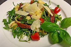 Italienischer Nudelsalat mit Rucola und getrockneten Tomaten (Rezept mit Bild) | Chefkoch.de