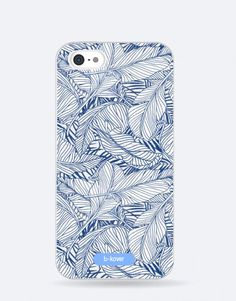 funda-movil-blue-hojas Phone Cases, See Through, Mobile Cases, Leaves, Blue Nails, Phone Case