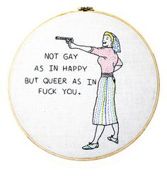 Embroidery Stitches Patterns Subversive embroidery - I need this as a cross stitch so I can make it for my soccer-mom SIL Learn Embroidery, Embroidery Art, Cross Stitch Embroidery, Embroidery Patterns, Cross Stitch Patterns, Cross Stitch Quotes, Bullen, Indie, Embroidery Techniques
