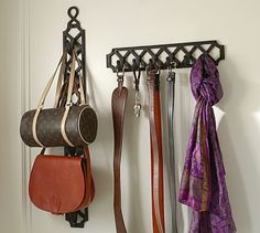 Super stylish hooks and come in different finishes  Finley Row of Hooks #potterybarn