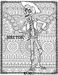 official disney pixar coloring page coco hector from the gallery - Coloring Page Coco