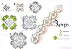 браслеты из бисера мастер класс, подробные схемы из бисера
