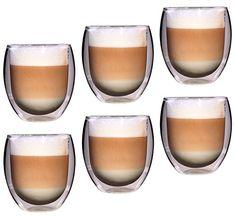 Feelino Rondo doppelwandige 6 Stück 400 ml große Teegläser / Kaffeegläser, edles und extra großes Thermoglas mit Schwebe-Effekt im Geschenkkarton - http://geschirrkaufen.online/feelino/feelino-rondo-doppelwandige-6-stueck-400-ml-edles