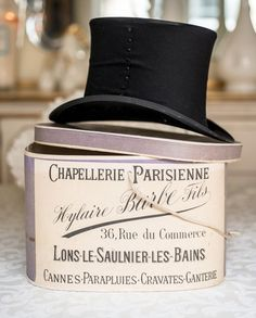Antique french Hat Boxes | hats hat boxes rare antique hats antiques french vintage tops boxes ...