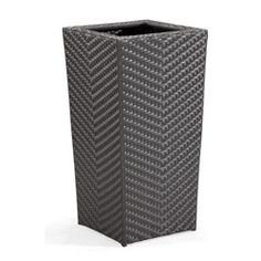 @Overstock - This Cancun planter has a high and tall profile. The weave is UV treated synthetic with a reinforced interior aluminum tube frame and is great for any indoor or outdoor setting.http://www.overstock.com/Home-Garden/Cancun-Tall-Planter/5938368/product.html?CID=214117 $185.99