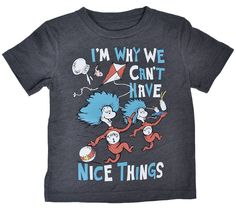 c910766c Dr. Seuss Toddler Boy Thing 1 2 T-Shirt Nice Things Cat in the Hat Print  size 3T