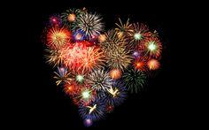 Love Heart Fireworks