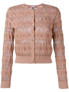 Shop M Missoni round neck cardigan .