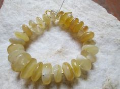 At Factory Price, Full strand, Yellow Chalcedony  Rondelle Briolette beads, (E-5733) by JaiVyavsayBeads on Etsy