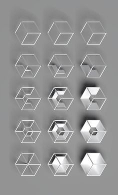 Geometric in Pieter Van den Dorpe Geometric Designs, Geometric Shapes, Geometric Patterns, Arte Linear, Typographie Logo, Motifs Textiles, Web Design, Logo Design, 3d Modelle