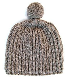 Free Knitted Fisherman s Rib Slouchy Hat Pattern Slouchy ...