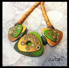 autumn jewelry by polymer clay