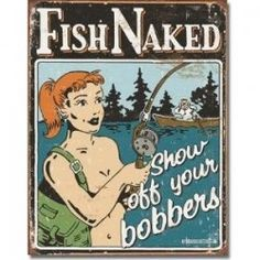 DECORATING YOUR GARAGE OR BAR WITH VINTAGE FISHING TIN SIGNS