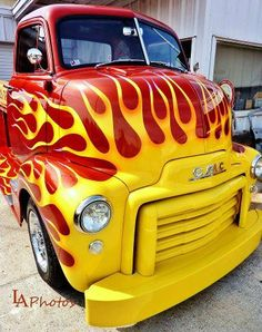 Red with Yellow Flames !