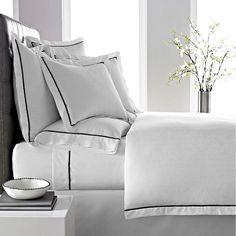 Kassatex Verona Herringbone 300-Thread Count Combed Cotton Duvet Cover,