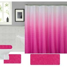 Shower Curtains You'll Love in 2020 | Wayfair Luxury Shower Curtain, Tree Shower Curtains, Striped Shower Curtains, Shower Curtain Hooks, Dorm Room Gifts, Purple Bathrooms, Spring Shower, Bath Decor, Bathroom Sets