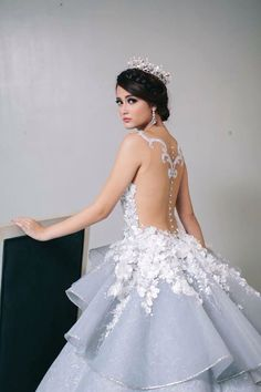 Debutant Gown by a Filipino designer Mak Tumang.