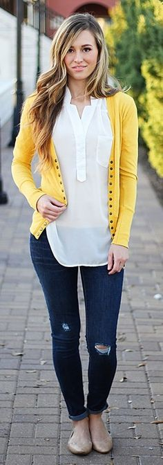 Best Selling Long Button Cardigan - New Colors {Jane Deals}