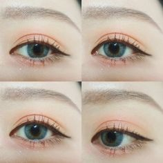 eye, korean, and eyebrows image