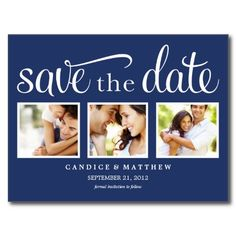 RETRO | SAVE THE DATE ANNOUNCEMENT POST CARDS