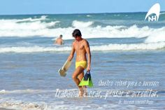 Quatro coisas para o sucesso:trabalhar e orar, pensar e acreditar.  #handsurf #bodysurf #handplane #handboard #surf #surfdepeito