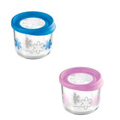 Storage 23.75oz Blue Pink 2Pk  by Bormioli Rocco