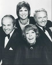 The Carol Burnett Show Cast.  I remember getting hysterical over Harvey Korman & Tim Conway skits.  What a great show!