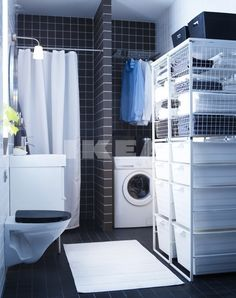 Ikea bathroom/laundry room, I can see this working on a real life setting