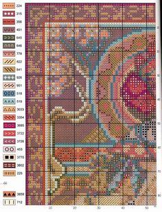 Borduurpatroon Kruissteek Mucha *Embroidery Cross Stitch Pattern ~Autumn (1900) 2/7~
