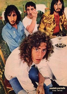 English rock band -- Roger Daltry, Pete Townshend, Jon Entwistle & Keith Moon.  The Who have sold about 100 million records, and have charted 27 top forty singles in the United Kingdom and United States, as well as 17 top ten albums, with 18 Gold, 12 Platinum and 5 Multi-Platinum album awards in the United States alone.