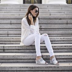 Getting spring ready in all white and the casual Joanie Mule. Get yours on Nordstrom or sorel.com today #SORELstyle #sponsored