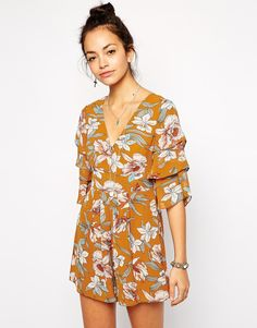Image 1 ofGlamorous Playsuit in Large Floral