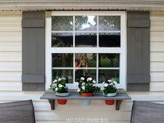 East Coast Creative: DIY Shutters and Window Box