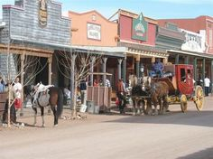 Tombstone, Arizona I'll tell you what, riding in a stage coach is hard on your butt!