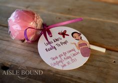 Lollipop • Baby Shower • Favor • Tags • Look who's ready to pop! #aislebound #loveisstationery