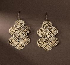 LOVE these!   Lia Sophia- LACEY gold earrings. So light-weight & pretty! #21083 Retailed for $34.  Purchased as a sample on 4/19/2010