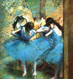 degas bailarinas azules