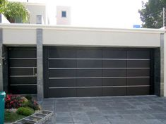 27 Design of garages in different styles Main Gate Design, House Gate Design, House Front Design, Modern Garage Doors, Garage Door Design, Entrance Gates, Facade House, Exterior Design, Future House