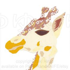 Click here to see my new work: The Floral #Giraffe #Collage #Portrait 8X8 Canvas Wall Art by PAPERandKNIFE, $49.95