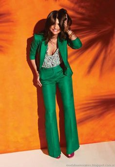 Woman suit / green outfit