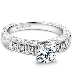 Noam Carver - Bridal Mount - B057-01A, priced from $1,463 (price doesn't include headstone)  Noam Carver Engagement Ring #diamondring #diamond #engagementring #bling #engaged  sold at Barthau Jewellers, www.barthau.com