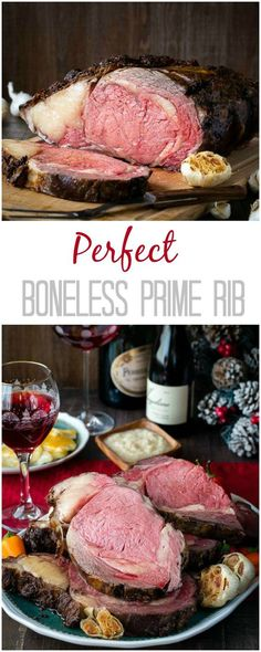 You've been cooking prime rib all wrong! Try this reverse-searing method to cook your next boneless prime rib and enjoy evenly cooked juicy slice of roast! Evenly cooked prime rib with an amazing crispy crust – guaranteed! Rib Recipes, Roast Recipes, Steak Recipes, Dinner Recipes, Cooking Recipes, Game Recipes, Shinee, Rib Roast Recipe, 10 Lb Prime Rib Recipe