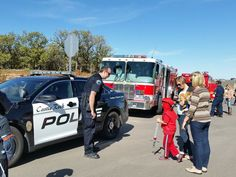 Castle Rock Police and Fire were onsite to show kids and families real  police cruisers and