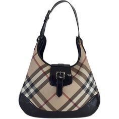 Pre-owned Burberry Coated & Patent Leather Tartan Shoulder Bag ($349) ❤ liked on Polyvore featuring bags, handbags, shoulder bags, white handbags, plaid shoulder bag, white patent handbag, burberry handbags and burberry
