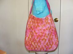 Handdyed cotton/linen hobo purse by byRickMarsh on Etsy, $60.00